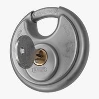 disc padlock key model