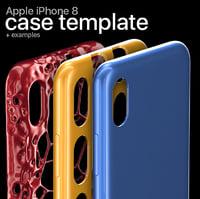 iphone 8 case template 3D model