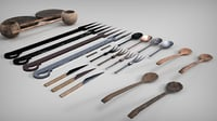 3D medieval cutlery model