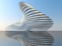 3D architectural structure scene