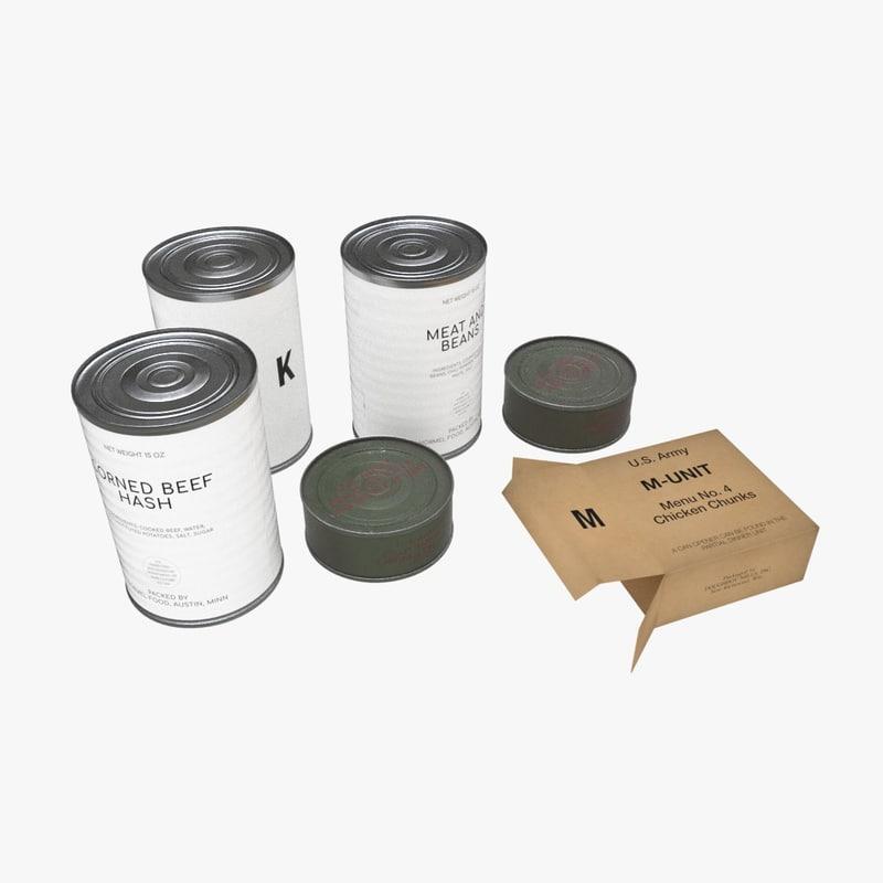 army k-rations set model