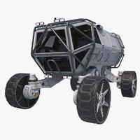 3D sci-fi scout vehicle