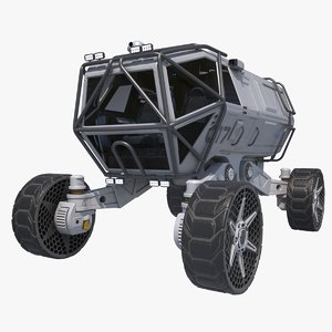 3D sci-fi scout vehicle
