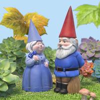 3D model garden gnomes