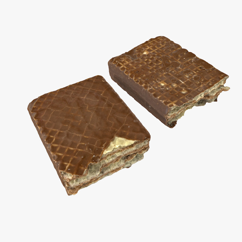 chocolate wafer bar realistic 3D model
