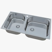 3D sink blanco tipo xl model