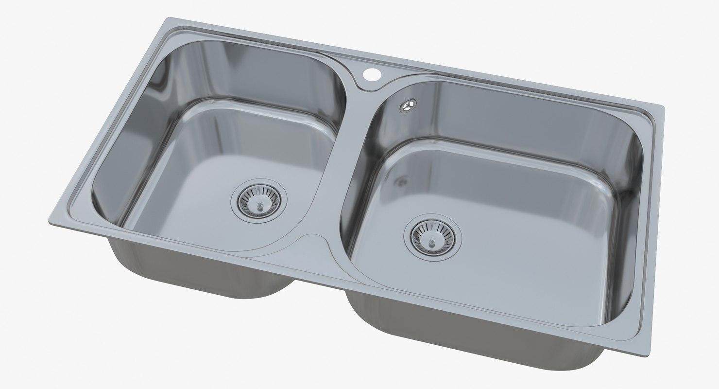 3D sink blanco tipo xl model - TurboSquid 1186916