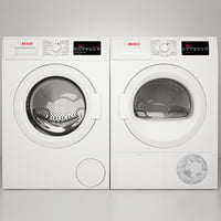 Bosch White WAT28400UC and WTG86400UC Bosch 300 Series