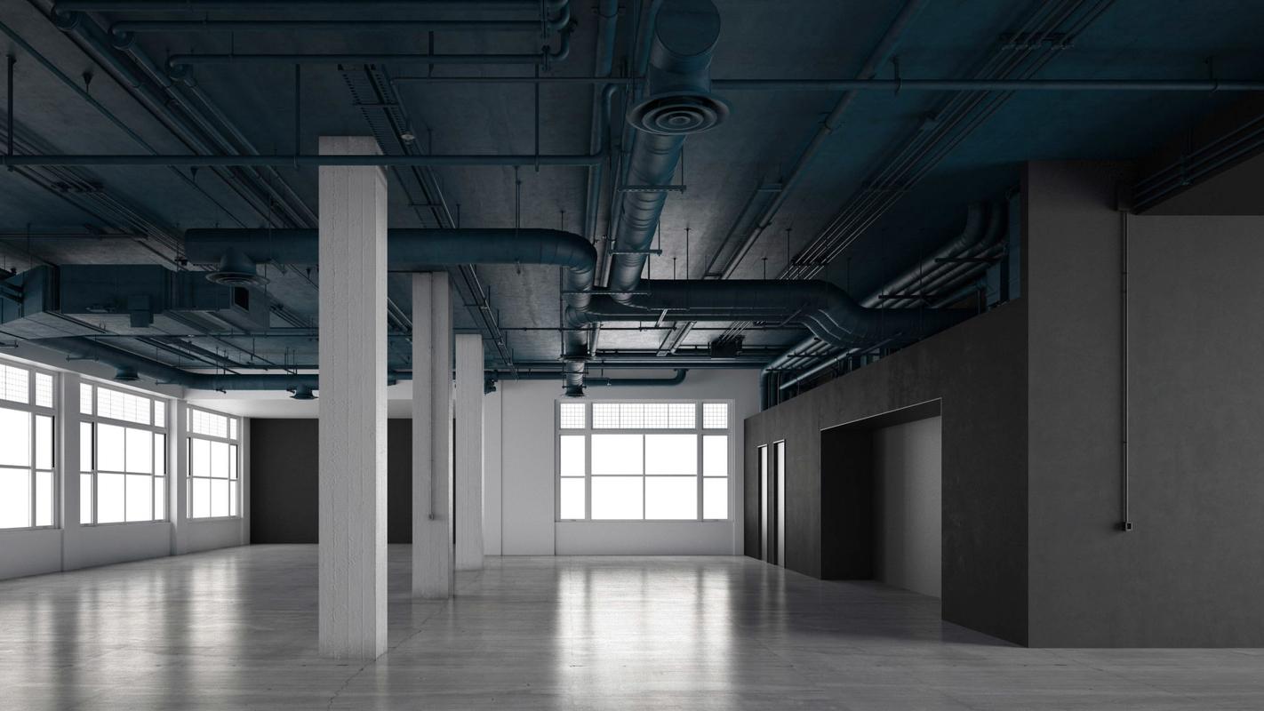 3D office industrial model