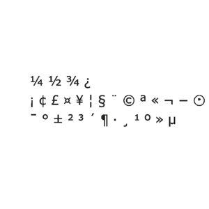 symbols2 meiryo font cg 3D model
