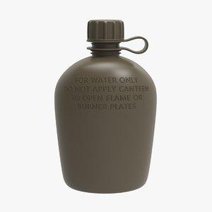flask 1 qt 3D