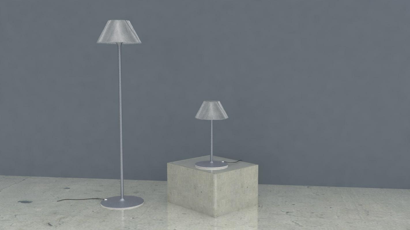 romeo moon lamp 3D model