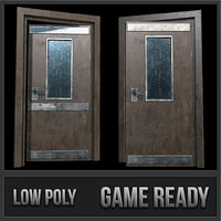 3D industrial doors 01 pbr model