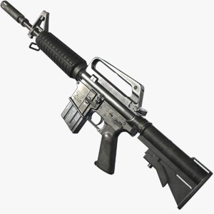 xm177 firearm weapon 3D