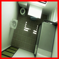 modern prison jail cell 3D model