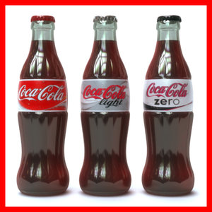coca cola bottles pack 3D model