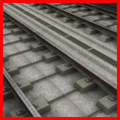 3D railway track model