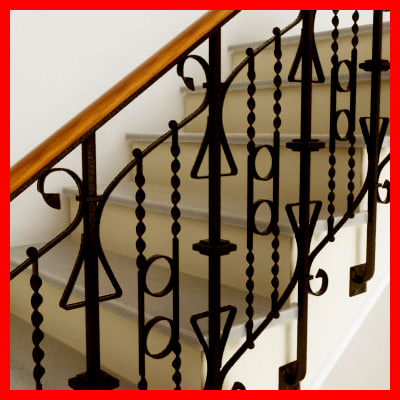 3D model antique stairs