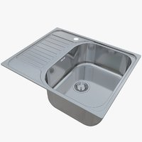 sink blanco tipo 45 3D model