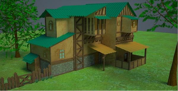 3D natural house model