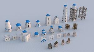 assets buildings 3D model
