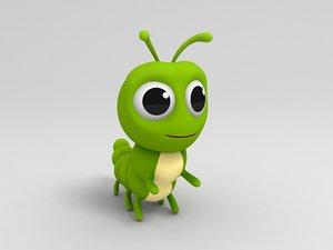 worm cartoon 3D