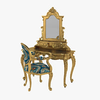 3D anais dressing table chair