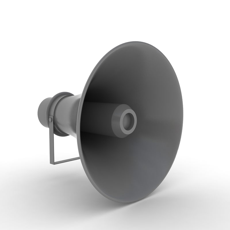 loudspeaker handheld 3D model