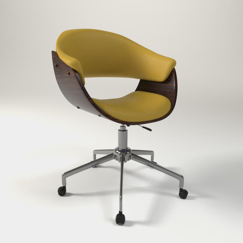 modern art deco chair 3D