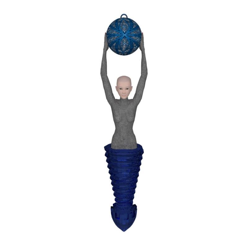 dowsers pendulum bob 3D