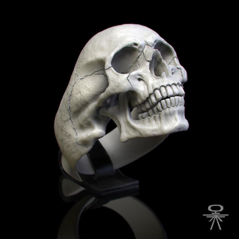 silver ring 3D model