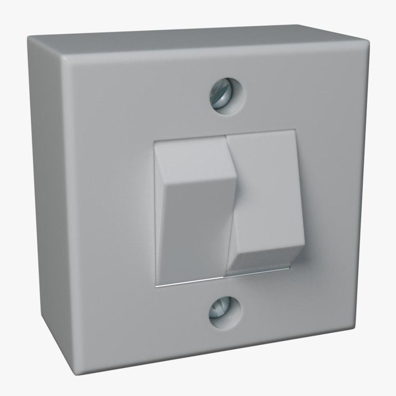 3D model light switch double