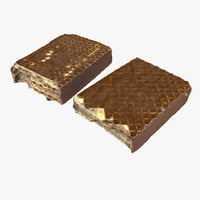 Realistic Chocolate Wafer Half Bar (2)