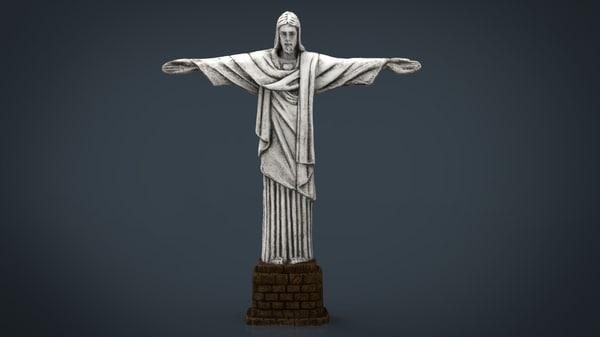 cristo redentor 3D