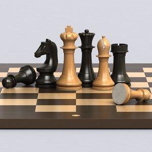 3D set box chess