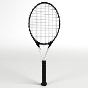 tennis racket 2 3D