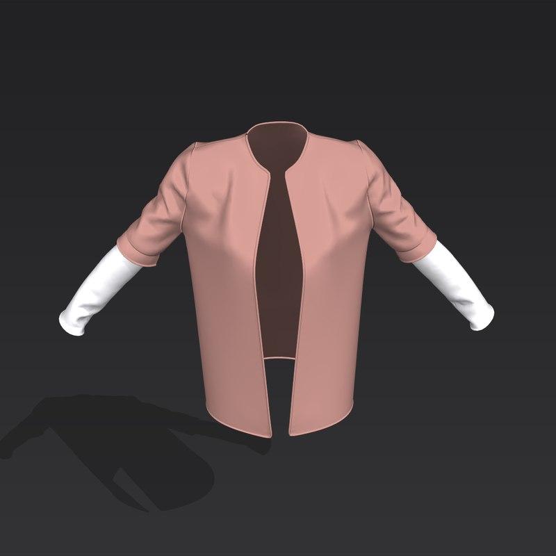 3D toned sleeve jacket model