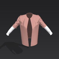 3D toned sleeve jacket model