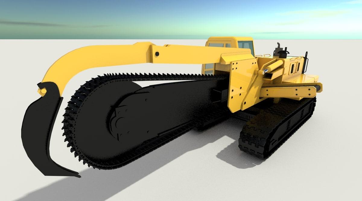 3D model zanjadora mechanical drive