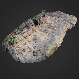 3D nature ground edge 003