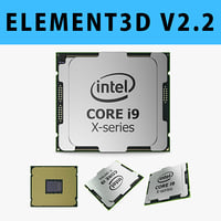 E3D - Intel Core i9 X-series Processor 3D model