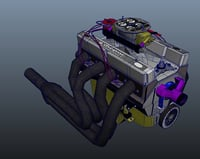 3D chevy small block engine model