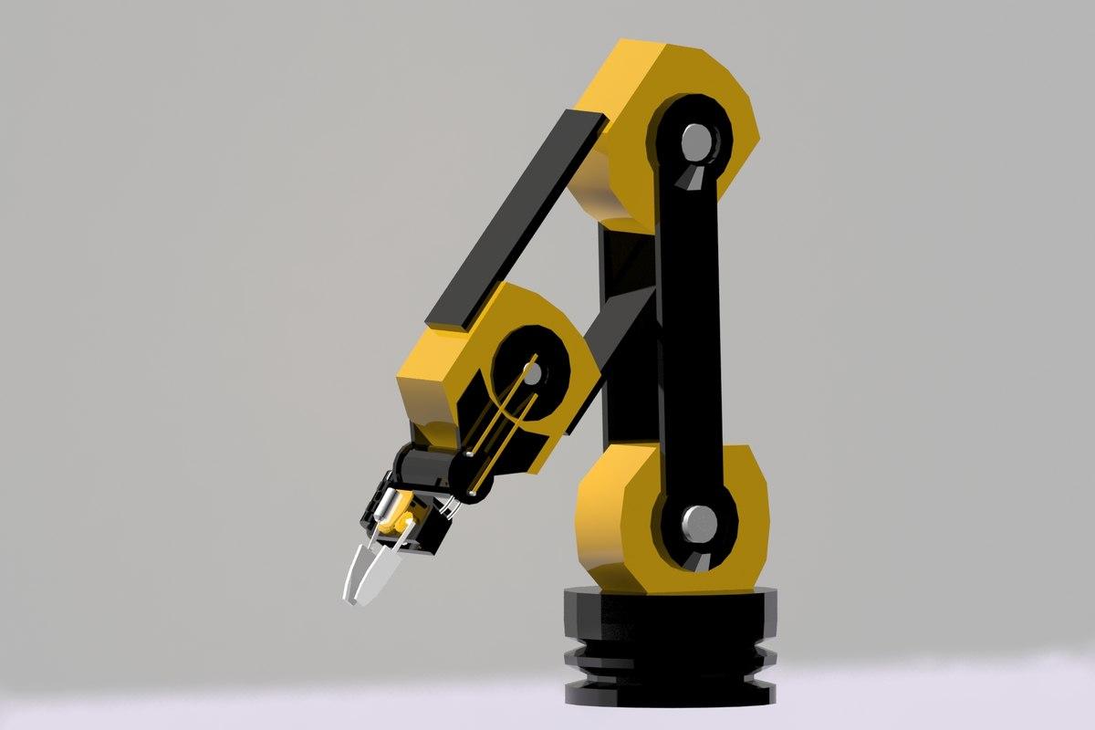 3D robotic arm model