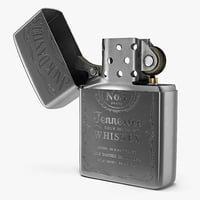 Zippo Jack Daniels Lighter Rigged 3D Model