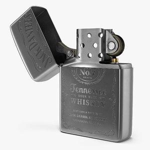 zippo jack daniels lighter 3D model