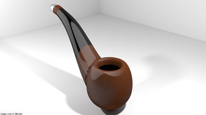 3D model bent pipe smoking