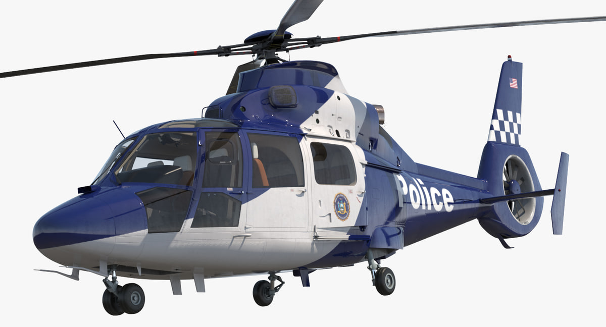 3D model police helicopter eurocopter 365