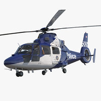 Police Helicopter Eurocopter AS 365 N2 Dauphin Rigged