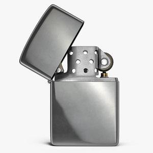 3D metal lighter rigged