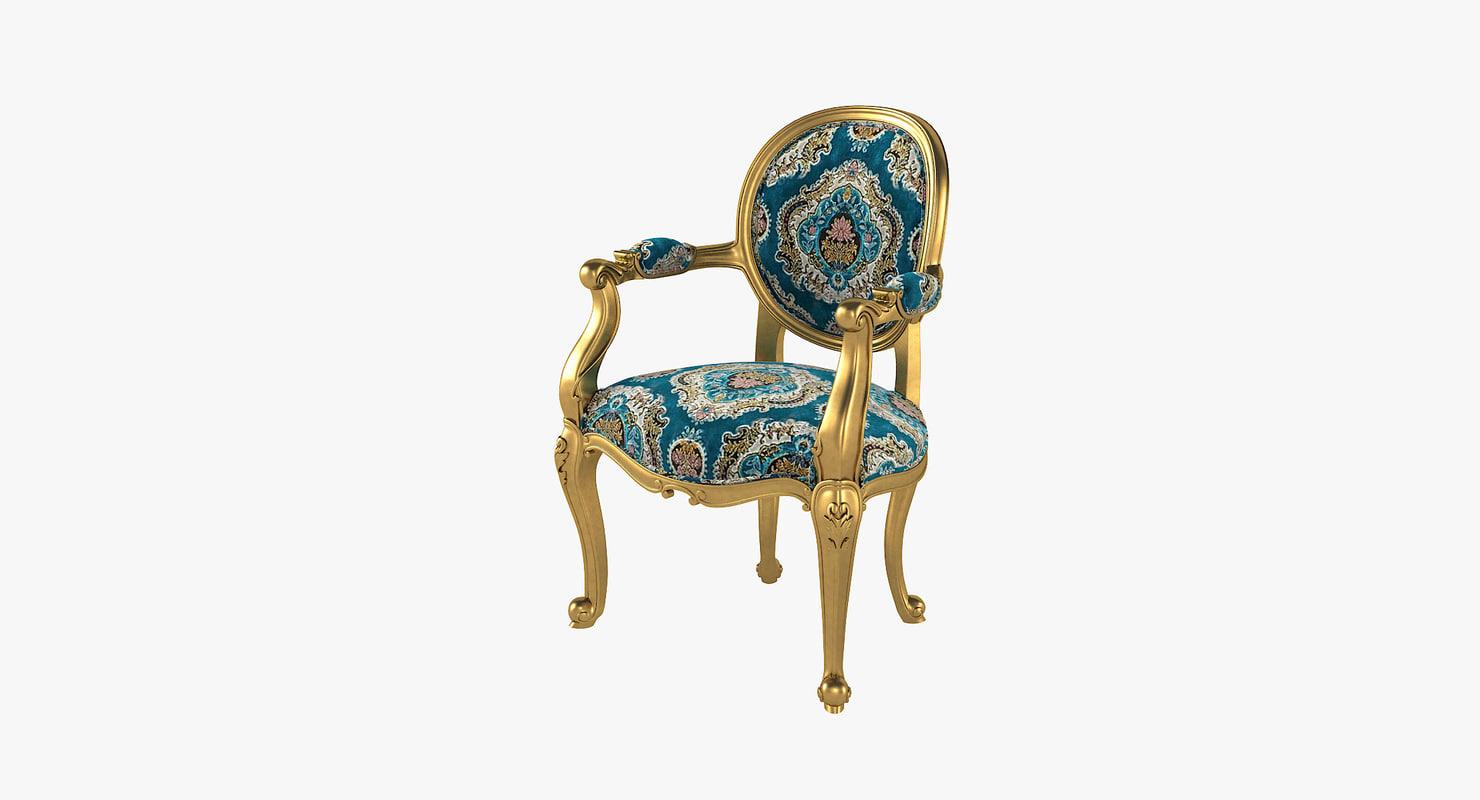 3D angelique armchair fabulous baroque